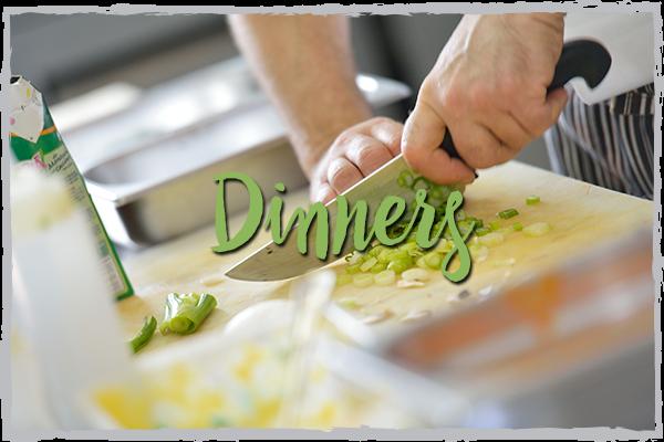 Catering Dinner Menus, plated dinners