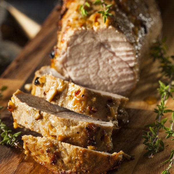 Catherine's Catering home delivered menu Bourbon Glazed Pork Tenderloin