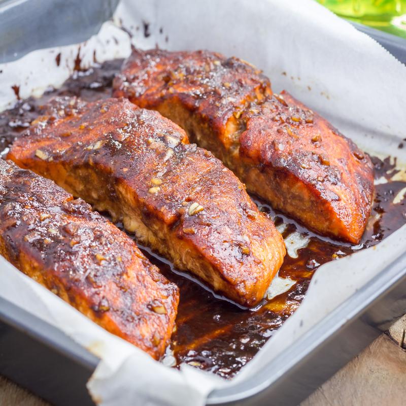 home delivered menu brown honey salmon
