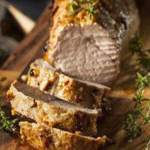 home delivered meals - maple glazed pork