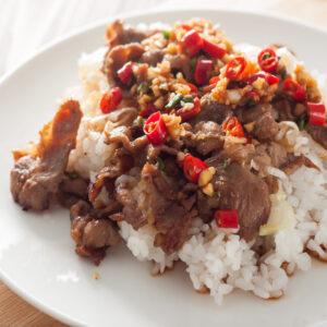 spicy teriyaki pork