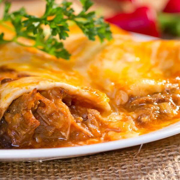 beef enchiladas - home delivered meals from Catherine's Catering