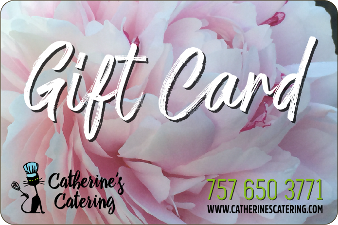 Gift cards from Catherine's Catering