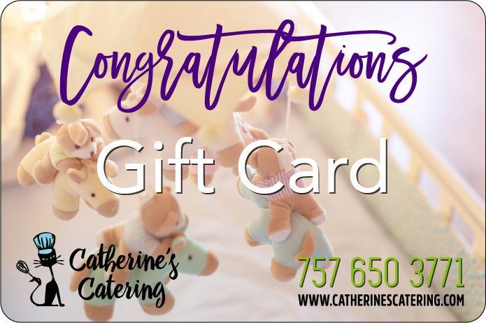 New Baby Gift cards from Catherine's Catering