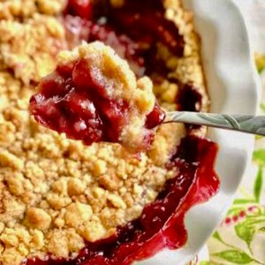 cherry berry crumble