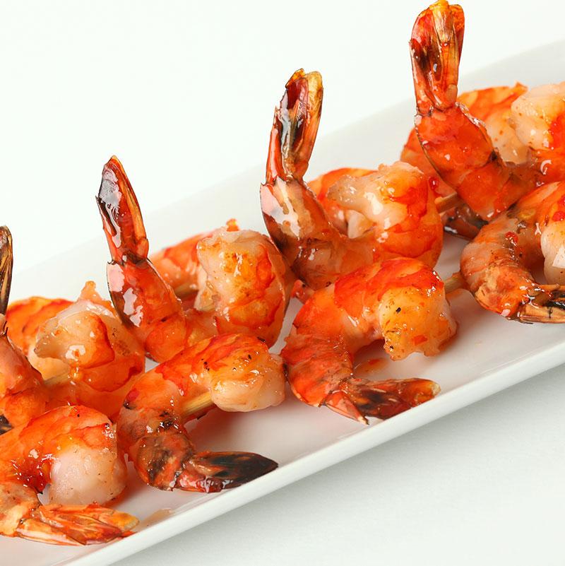 Catherine's Catering picnic menu - shrimp skewers